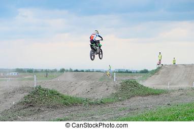 athlete in motocross