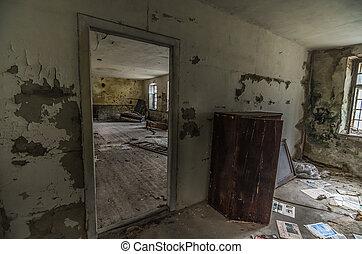 door like mirror in room - door acts like a mirror in a room