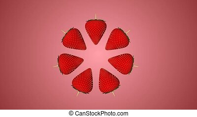 Strawberry Index - Circle of strawberries in the center of...