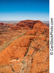 Olgas near Uluru - Shot from a helicopter