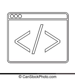 Web Browser Icon illustration design