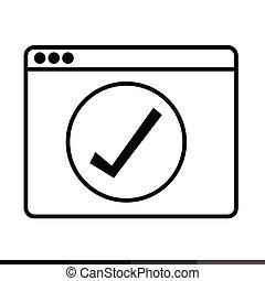 Web Browser Icon illustration design