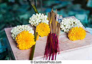 Incense sticks used for Buddhist praying