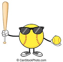 Softball Player With Sunglasses
