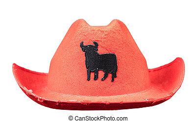 headdress, cowboy hat isolated on white background