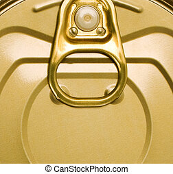 Tin can with ring pull background