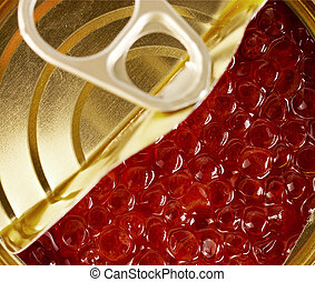 Caviar in Tin can with ring pull - caviar in Tin can with...