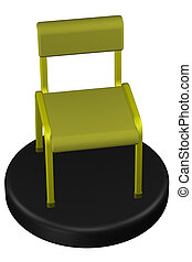 Office chair. 3D rendering.