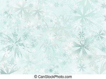 snowfall abstract blue background with snowflake