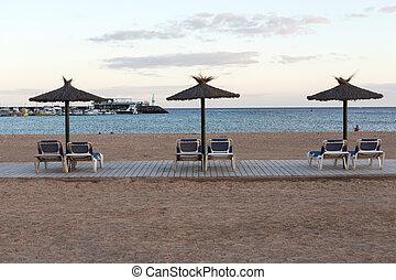 Beach in Caleta de Fuste, Fuerteventura Spain