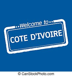 Welcome to COTE D'IVOIRE illustration design