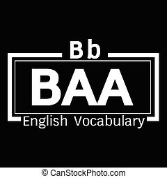 BAA english word vocabulary illustration design