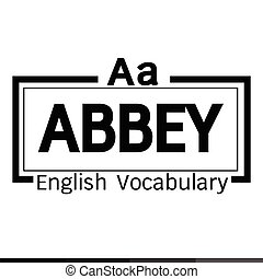 ABBEY english word vocabulary illustration design
