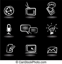 Communication icons 5 - Collection of communication icons on...