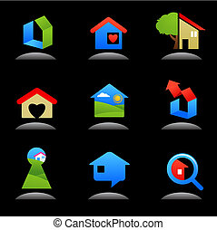 Real estate and construction icons / logos - 7