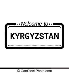 Welcome to KYRGYZSTAN illustration design