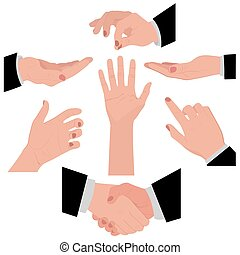 set of hands for different concepts