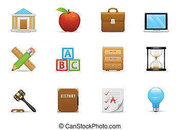 Education Icon Set - Education Icons Were Designed For Your...
