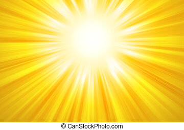 Golden sun rays background Bright yellow beams of light...
