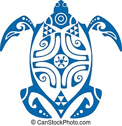 Maui Turtle Tattoo Motif - Maui Turtle Tribal Tattoo Motif...