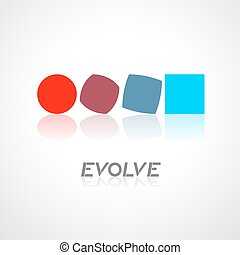 evolve symbol - Creative design of evolve symbol