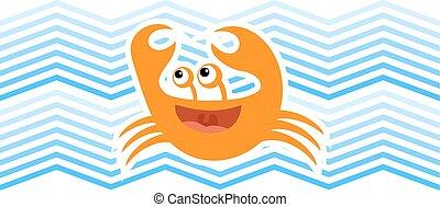 imaginative crab illustration - Creative design of...
