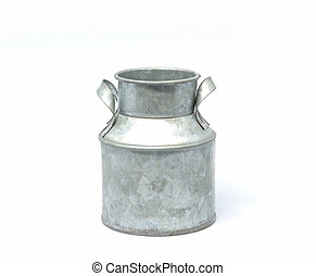 Milk bucket on white - Milk bucket on a white background