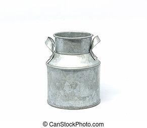 Milk bucket on white - Milk bucket on a white background