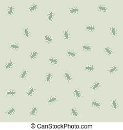 many cockroaches pattern - Creative design of many...