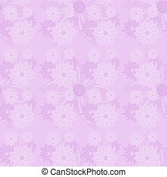 pink flowers seamless - Creative design of pink flowers...