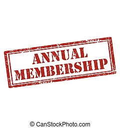 Annual Membership-stamp - Grunge rubber stamp with text...