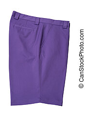 Short pants purple for man or woman