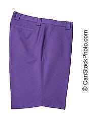Short pants purple for man or woman - Purple short pants...