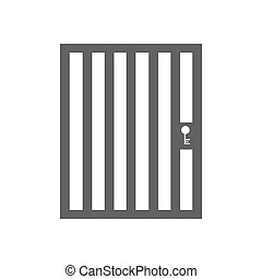 Aviary cage door on the white background. Vector...