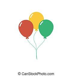 Balloon vector illustration - Balloon illustration on the...