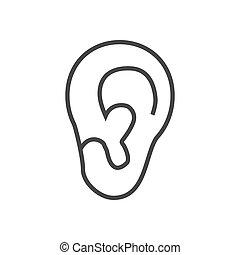 Ear illustration vector