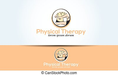logo leg physical therapy graphic illustration