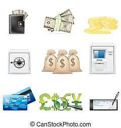 Banking and finance icons - Vector banking and finance icon...