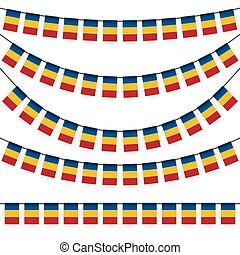 garlands with romanian national colors - different garlands...