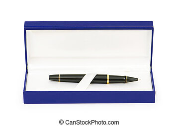 Writing pen isolated on the white background