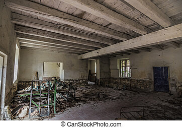 old machine room in a factory