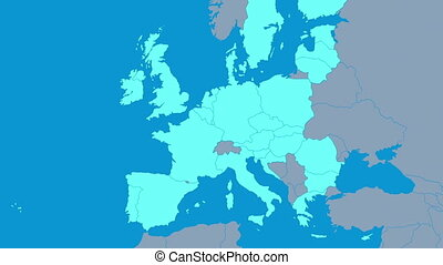 Brexit - changing map of the European Union after the 2016's...