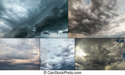 Supercell Storm Time Lapse multiscreen