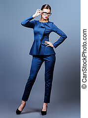 style for business - Optics style Full length portrait of a...