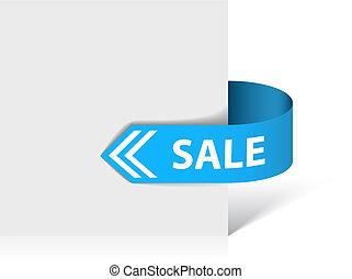 Sale blue ribbon