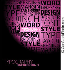 Abstract purple typography background