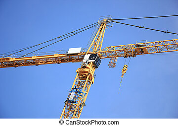 Construction crane - Tall construction crane at a...