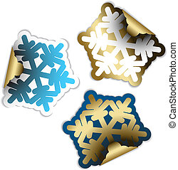 Snow flakes as labels