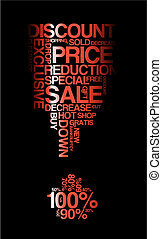 Red sale discount poster