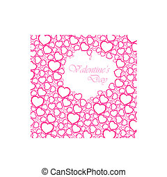 valentines day card - Love vector background made from pink...